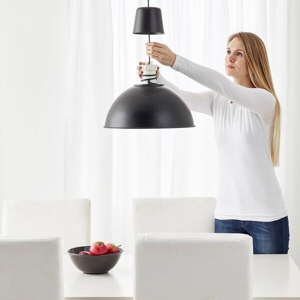 SKURUP Lampada a sospensione, nero, 38 cm