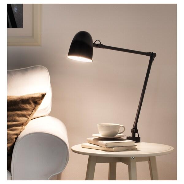 SKURUP Lampada da lavoro/parete, nero