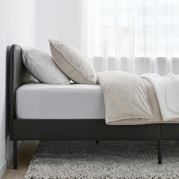 SLATTUM struttura letto imbottita Bomstad nero 206 cm 144 cm 40 cm 85 cm 200 cm 140 cm