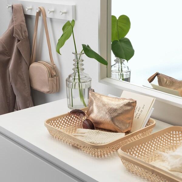 SMARRA scatola con coperchio naturale 30 cm 30 cm 10 cm