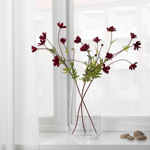 SMYCKA Fiore artificiale, cosmea/rosso scuro, 65 cm
