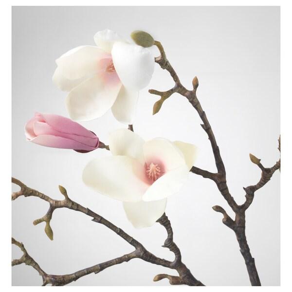 SMYCKA Fiore artificiale, Magnolia/rosa, 110 cm