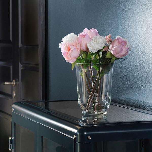 SMYCKA Fiore artificiale, peonia/rosa, 30 cm