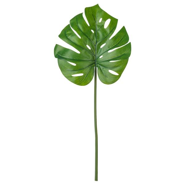 SMYCKA Foglia artificiale, monstera/verde, 80 cm