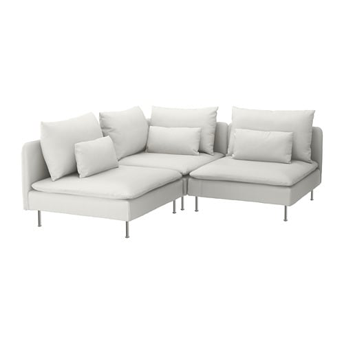 SÖDERHAMN Divano angolare a 3 posti - Finnsta bianco - IKEA
