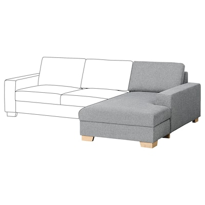 SÖRVALLEN Elemento chaise-longue, destro/Lejde grigio/nero