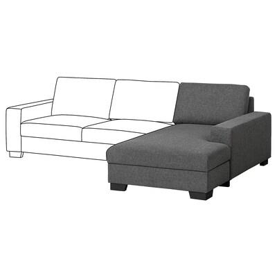 SÖRVALLEN Elemento chaise-longue, destro/Lejde grigio scuro
