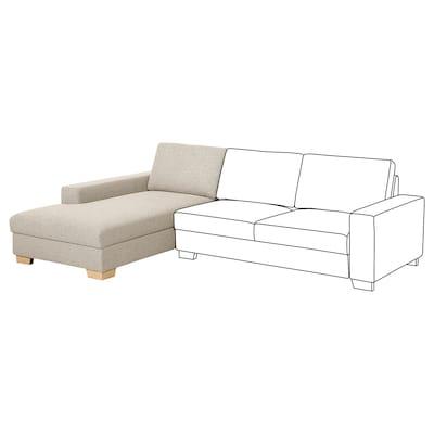 SÖRVALLEN Elemento chaise-longue, sinistro/Lejde beige scuro