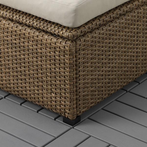 SOLLERÖN divano componibile 3 posti, esterno marrone/Hållö beige 223 cm 82 cm 82 cm 187 cm 44 cm 40 cm