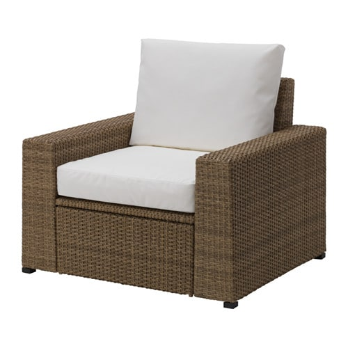 Sedute Divani Su Misura.Solleron Poltrona Da Giardino Marrone Kungso Bianco