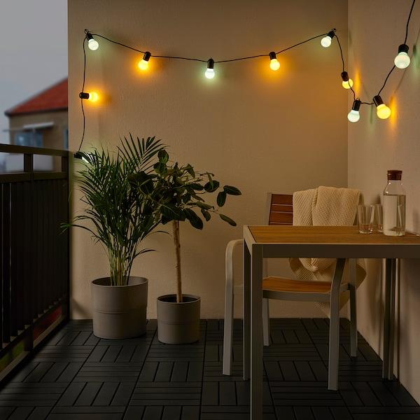 SOLVINDEN Illuminazione a LED 12 luci, da esterno/multicolore