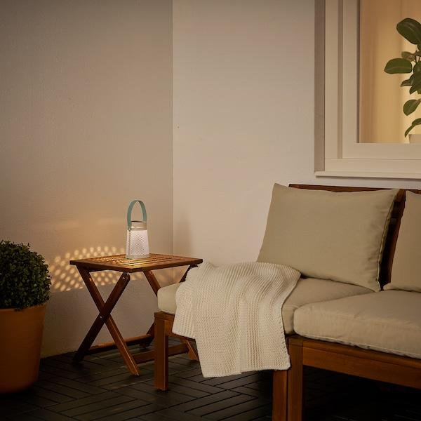 SOLVINDEN Lampada tavolo LED energia solare, conico bianco, 15 cm