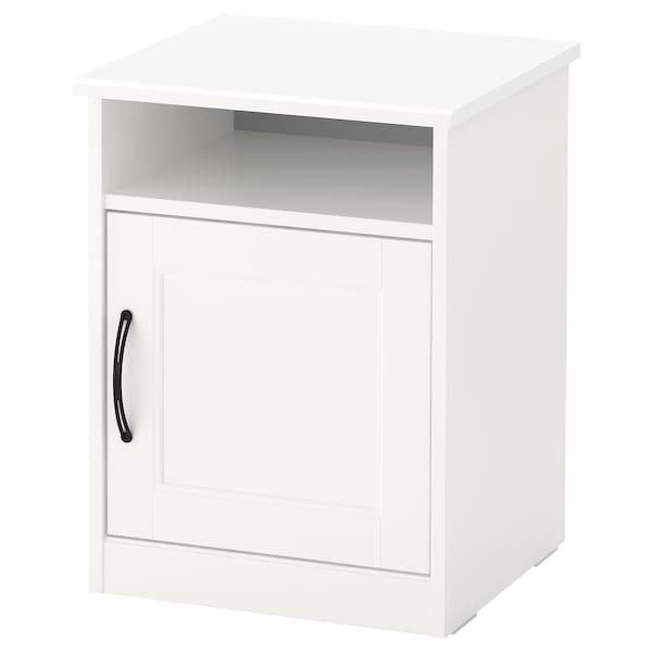 SONGESAND Comodino, bianco, 42x40 cm