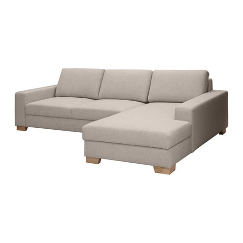 S rvallen divano 2 posti chaise longue dx ten grigio chiaro ikea - Ikea divano chaise longue ...