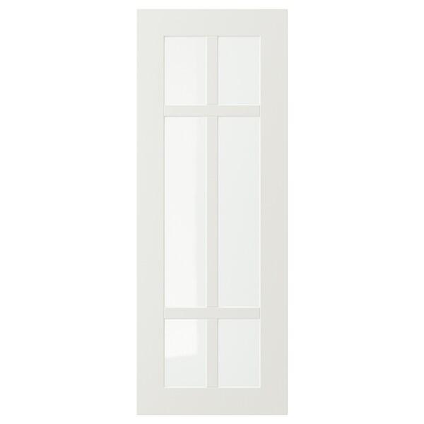 STENSUND Anta a vetro, bianco, 30x80 cm