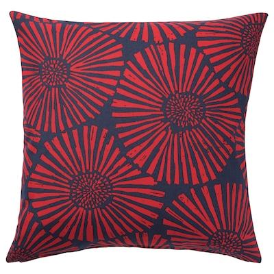 STJÄRNTULPAN Fodera per cuscino, blu scuro/rosso, 50x50 cm