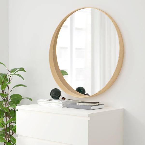 STOCKHOLM Specchio, impiallacciatura di frassino, 80 cm