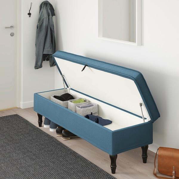 Panche Di Legno Ikea.Stocksund Panca Ljungen Blu Nero Legno Ikea Svizzera