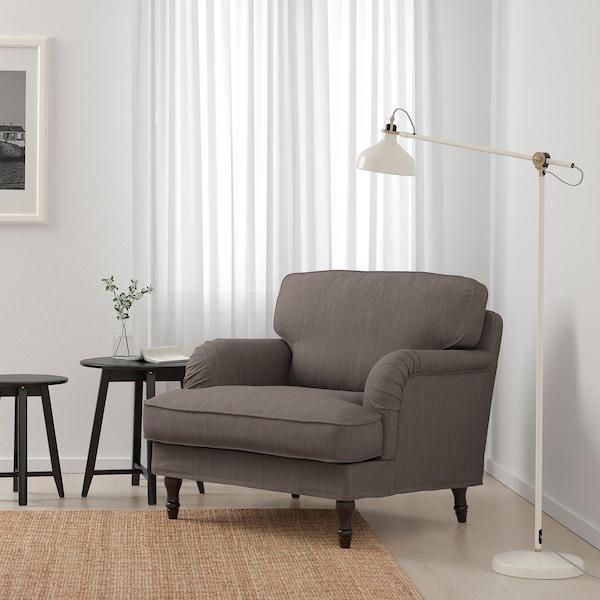 STOCKSUND Poltrona, Nolhaga grigio-beige/nero/legno