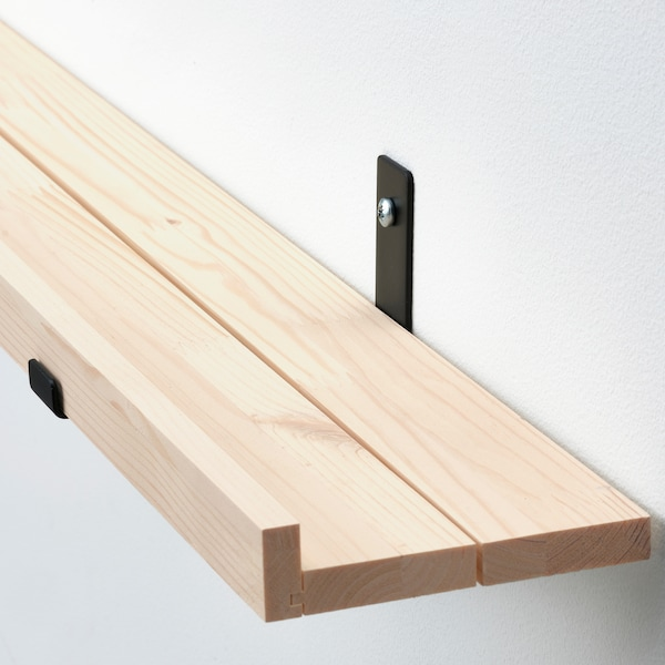 STÖDSTORP Mensola per quadri, mordente bianco, 115 cm