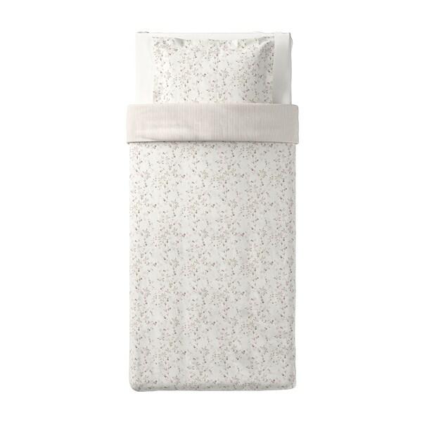 STRANDFRÄNE Copripiumino e federa, bianco/beige chiaro, 150x200/50x60 cm