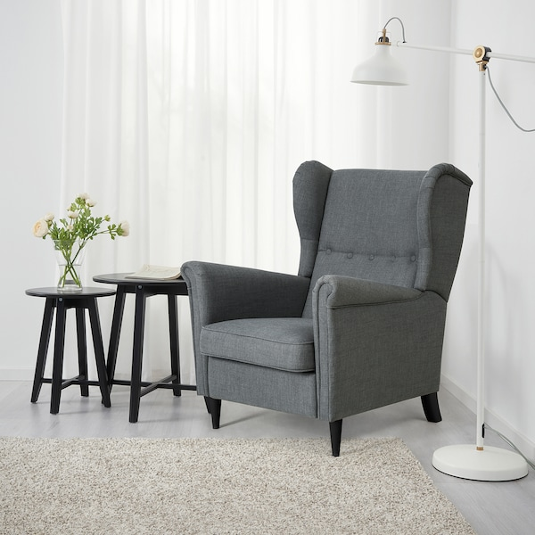 STRANDMON Poltrona reclinabile, Nordvalla grigio scuro