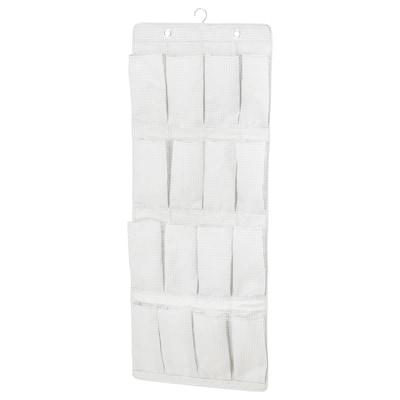 STUK Portascarpe da appendere, 16 tasche, bianco/grigio, 51x140 cm
