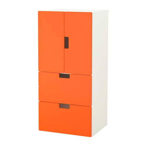 stuva combinazione ante cassetti bianco arancione ikea. Black Bedroom Furniture Sets. Home Design Ideas