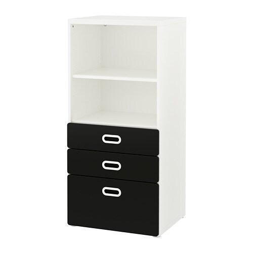 STUVA / FRITIDS Libreria con cassetti - bianco/superficie a lavagna ...
