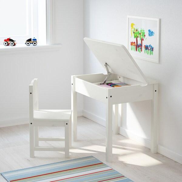 SUNDVIK Banco per bambini, bianco, 60x45 cm