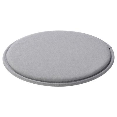 SUNNEA Cuscino per sedia, grigio, 36x2.5 cm