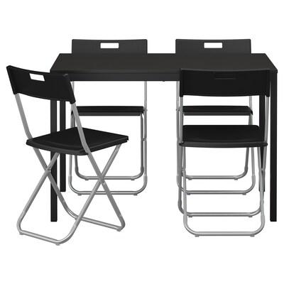TÄRENDÖ / GUNDE tavolo e 4 sedie nero 110 cm 67 cm 74 cm