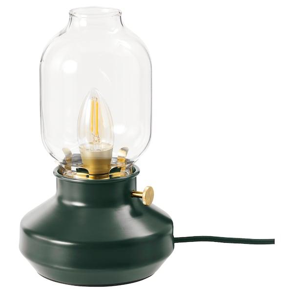 TÄRNABY Lampada da tavolo, verde scuro
