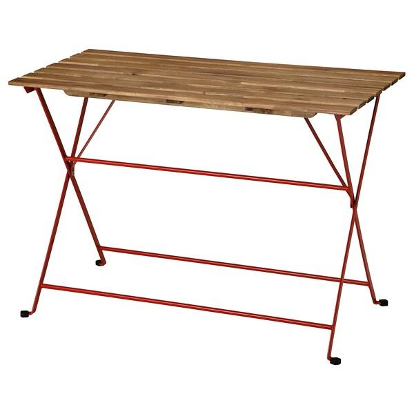 TÄRNÖ Tavolo da giardino, rosso/mordente marrone chiaro, 100x54 cm
