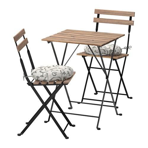 tÄrnÖ tavolo+2 sedie da giardino - tärnö nero/mordente grigio