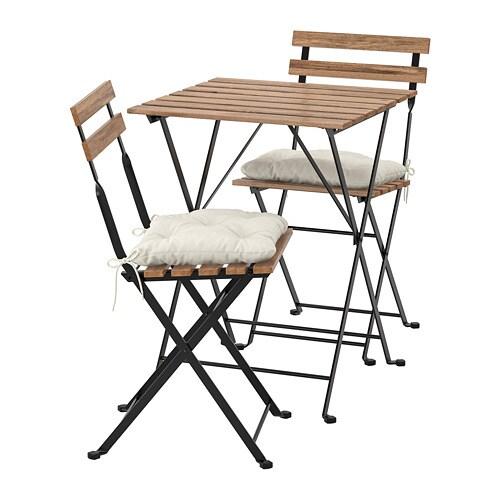 Ikea Sedie X Giardino.Tarno Tavolo 2 Sedie Da Giardino Tarno Mordente Marrone Nero