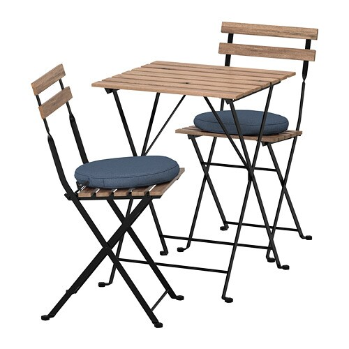 Tavoli Sedie Da Giardino Ikea.Tarno Tavolo 2 Sedie Da Giardino Tarno Mordente Nero Grigio