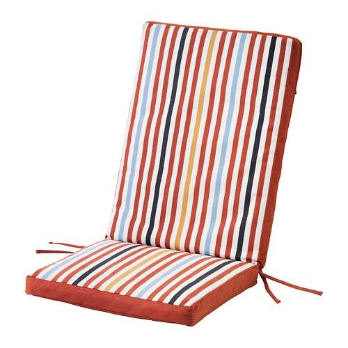 T singe cuscino sedile schienale da esterno rosso ikea for Cuscini da esterno ikea