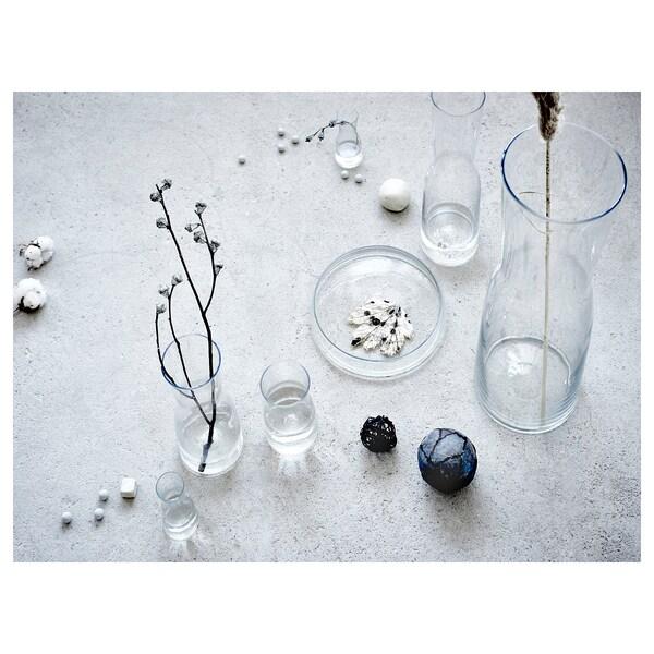TIDVATTEN Vaso, vetro trasparente, 14 cm