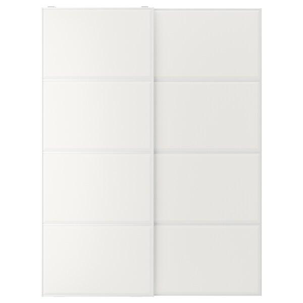 TJÖRHOM Coppia di ante scorrevoli, bianco, 150x201 cm