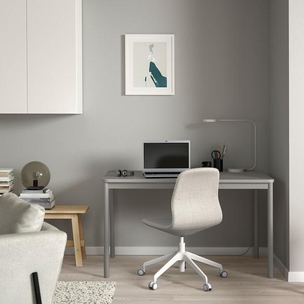 TOMMARYD Tavolo, grigio chiaro, 130x70 cm