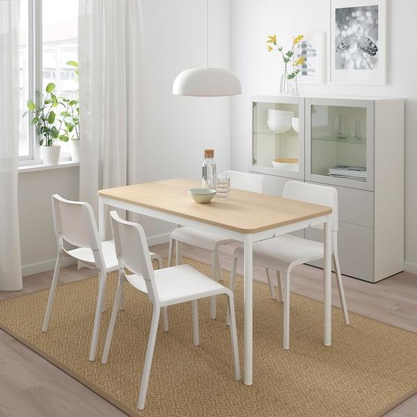 TOMMARYD Tavolo, impiallacciato rovere mord bianco/bianco, 130x70 cm