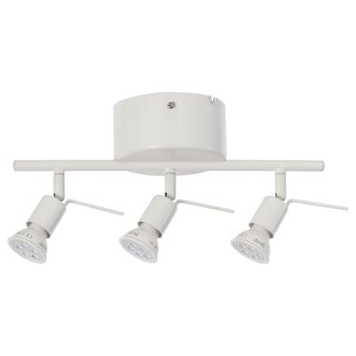 TROSS Binario da soffitto, 3 faretti, bianco