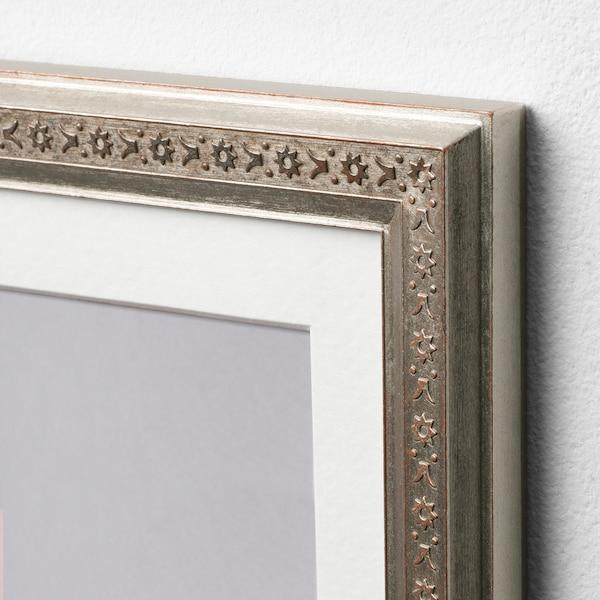 UBBETORP Set di 2 cornici, color argento