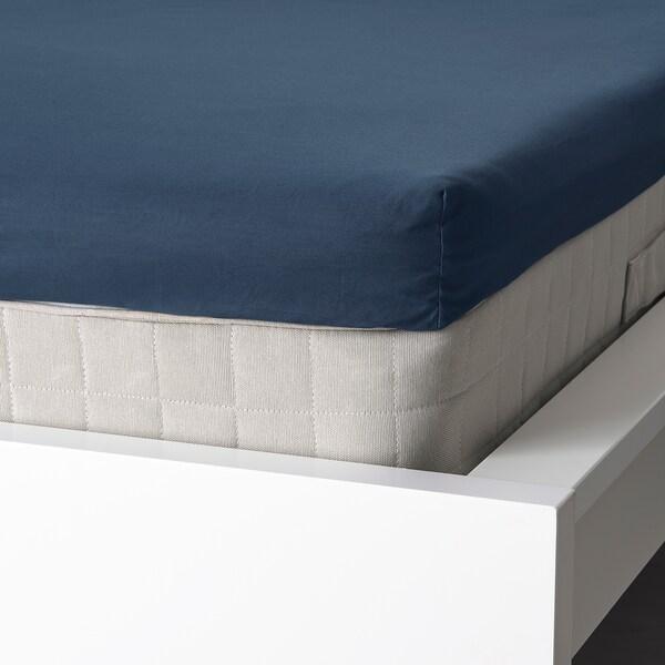 ULLVIDE Lenzuolo angoli materasso sottile, blu scuro, 180x200 cm