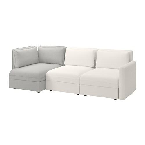 Vallentuna divano a 3 posti componibile con contenitore for Divano con contenitore ikea
