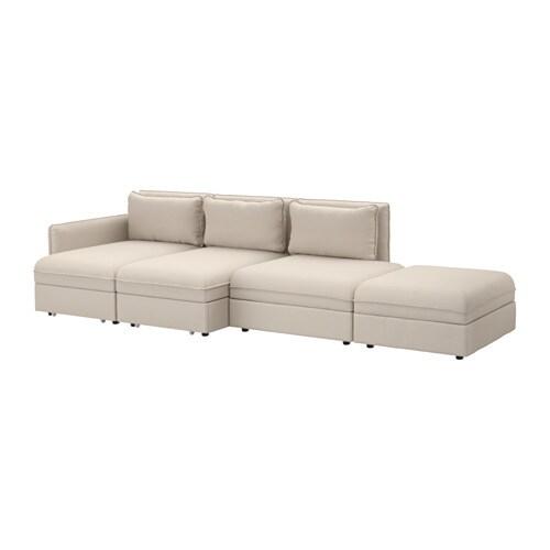 VALLENTUNA Divano a 4 posti con letto - Orrsta beige - IKEA
