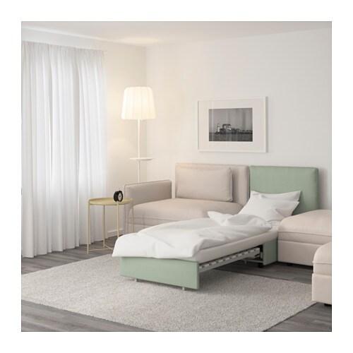 Vallentuna divano a 5 posti con letto murum beige hillared verde ikea - Ikea divano vallentuna ...