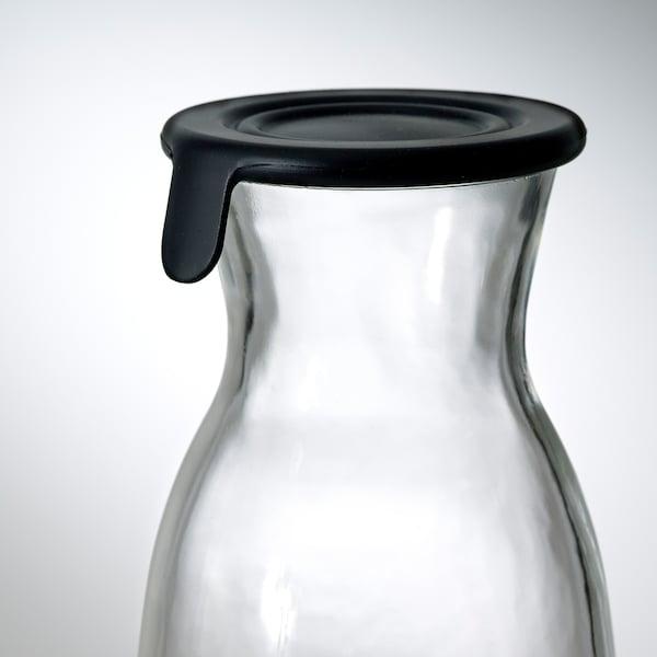 VARDAGEN Caraffa con tappo, vetro trasparente, 1.0 l