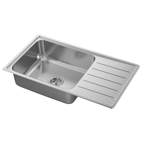 IKEA VATTUDALEN Lavello incasso, 1 vasca/sgocciolat